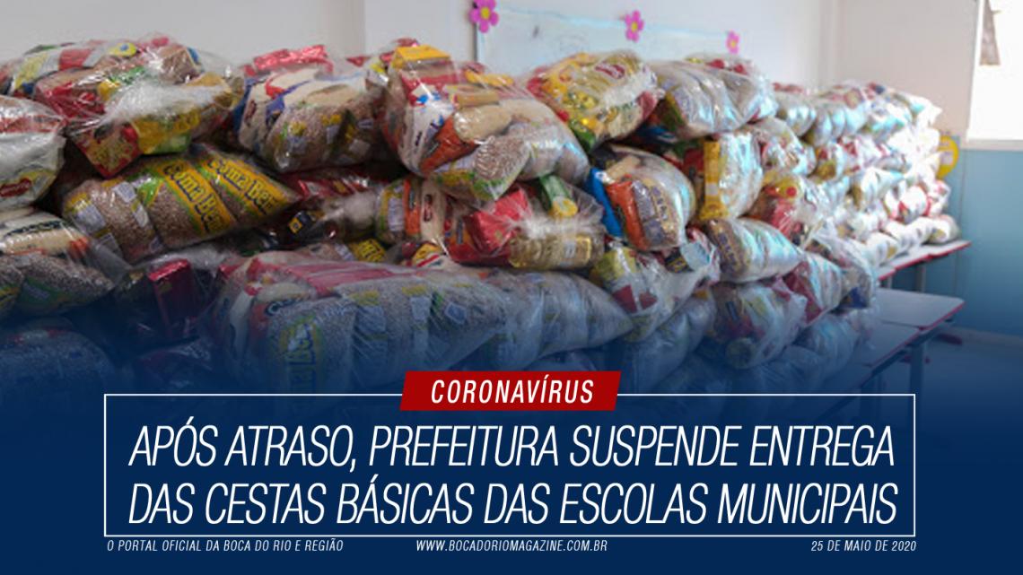 Após atraso, Prefeitura suspende entrega das cestas básicas das escolas municipais
