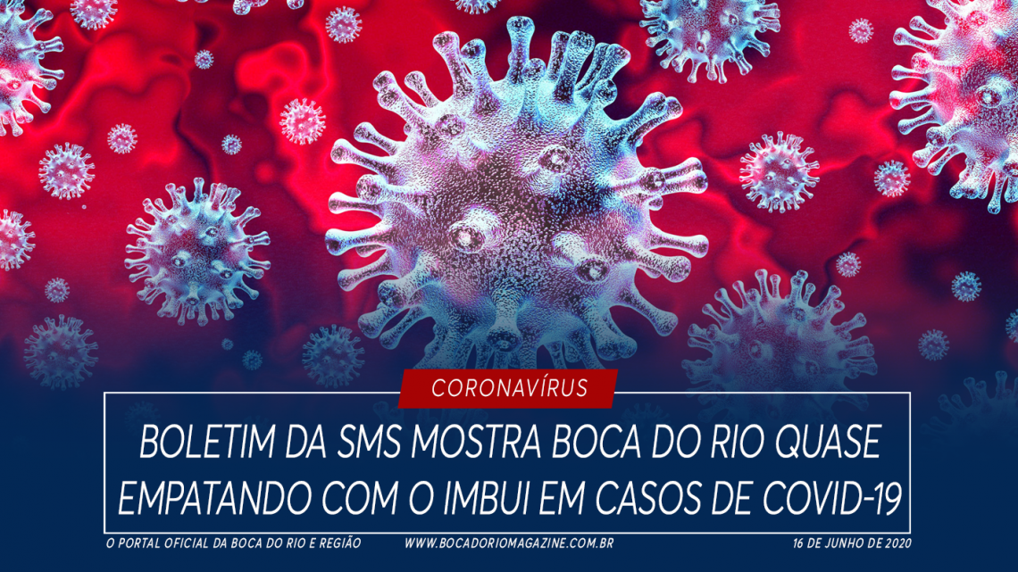 Boletim da SMS mostra Boca do Rio quase empatando com o Imbui em casos de Covid-19