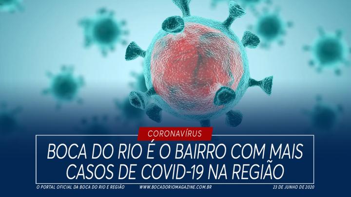 Boca do Rio é o bairro com mais casos de Covid-19 na região