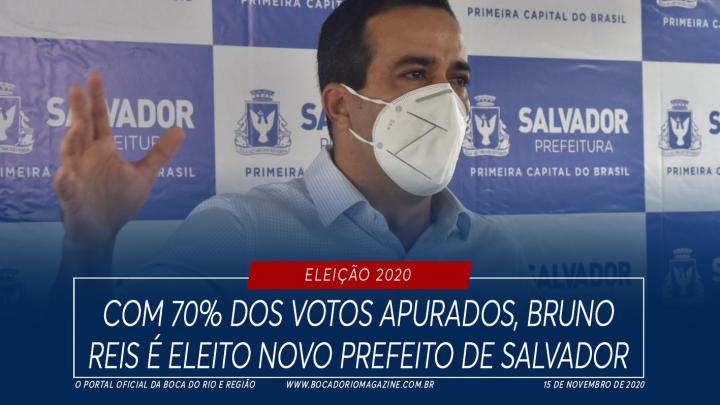 Com 70% dos votos apurados, Bruno Reis é eleito novo prefeito de Salvador