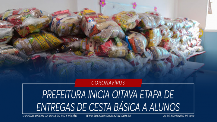 Prefeitura inicia oitava etapa de entregas de cesta básica a alunos
