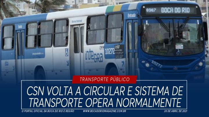 Ônibus da CSN voltam a circular e sistema de transporte opera normalmente