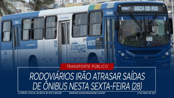Rodoviários irão atrasar saídas de ônibus nesta sexta-feira (28)
