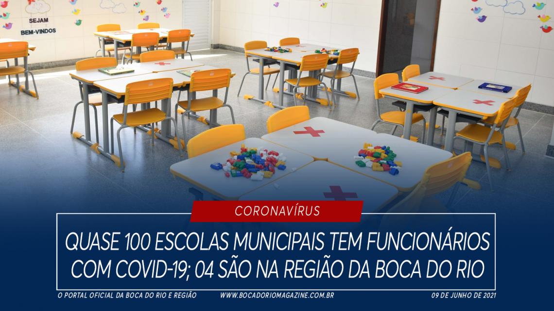 Quase 100 escolas municipais tem funcionários com Covid-19; 04 são na região da Boca do Rio