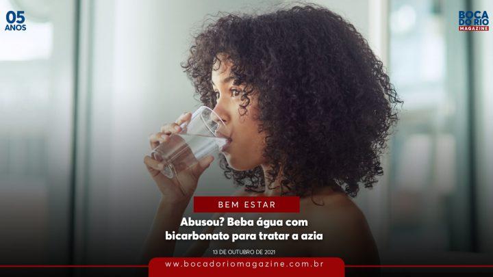 Abusou? Beba água com bicarbonato para tratar a azia